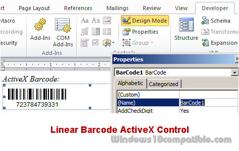 Linear Barcode ActiveX Control 11 03 Free download